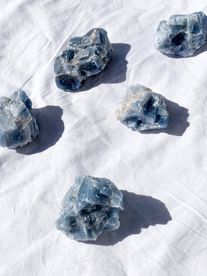 Blue Calcite Rough | Medium - Unearthed Crystals