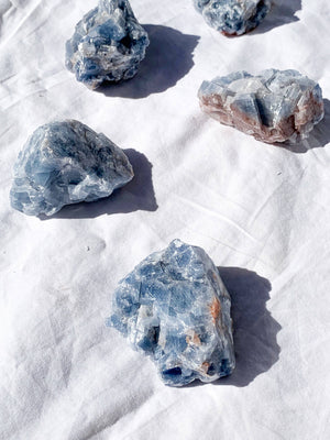 Blue Calcite Rough | Large - Unearthed Crystals