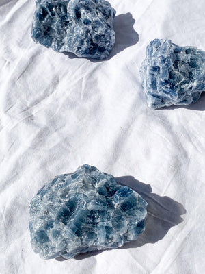 Blue Calcite Rough | XXL - Unearthed Crystals