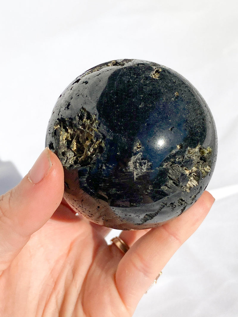 Black Tourmaline Sphere - Unearthed Crystals
