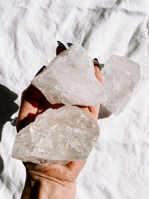 Clear Quartz Rough | Extra Large - Unearthed Crystals
