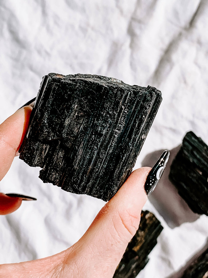 Black Tourmaline Rough | Extra Large - Unearthed Crystals