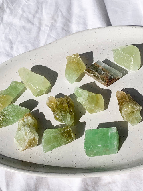 Green Calcite Rough | Small - Unearthed Crystals
