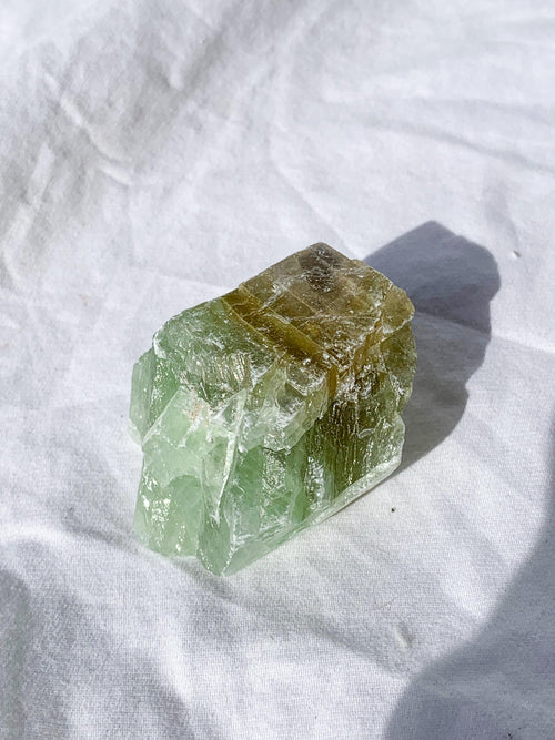 Green Calcite Rough | Medium - Unearthed Crystals
