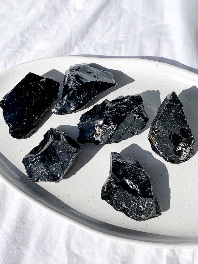 Black Obsidian Rough | Large - Unearthed Crystals