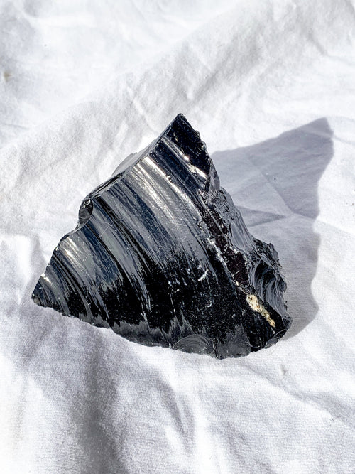 Black Obsidian Rough | Extra Large - Unearthed Crystals
