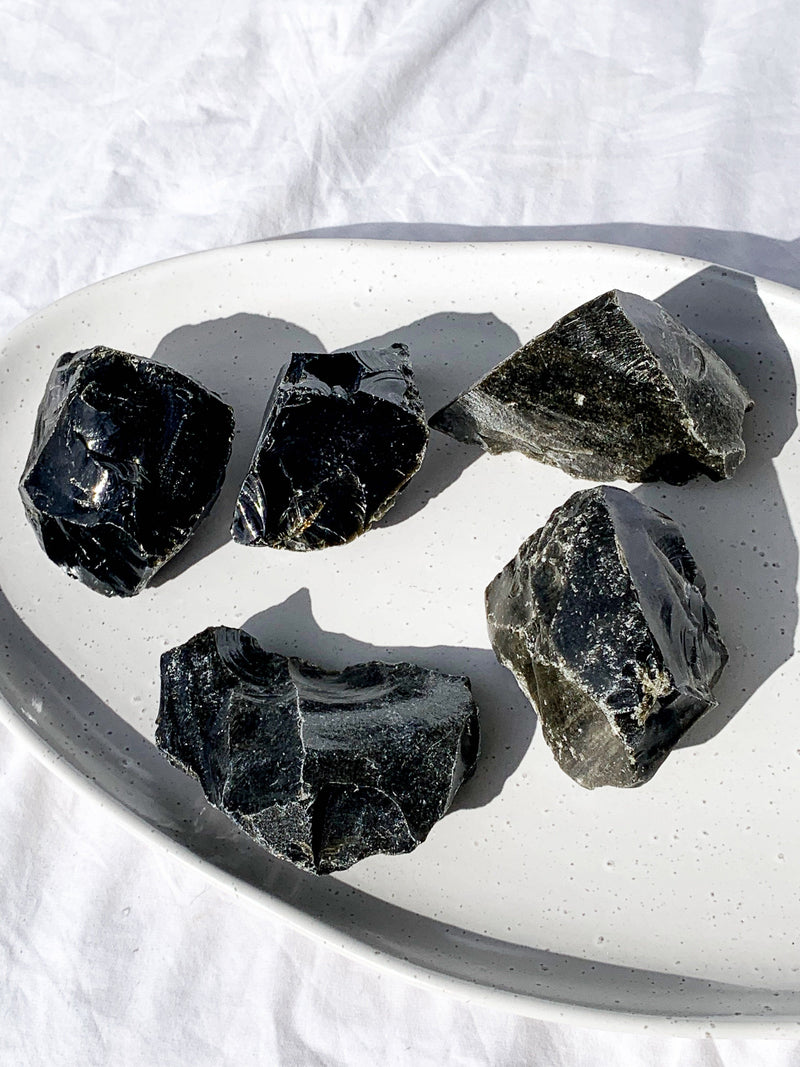 Golden Sheen Obsidian Rough | Extra Large - Unearthed Crystals