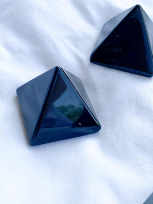 Black Obsidian Pyramid | Small - Unearthed Crystals