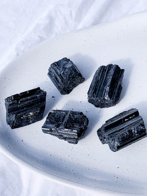Black Tourmaline Rough | Medium - Unearthed Crystals