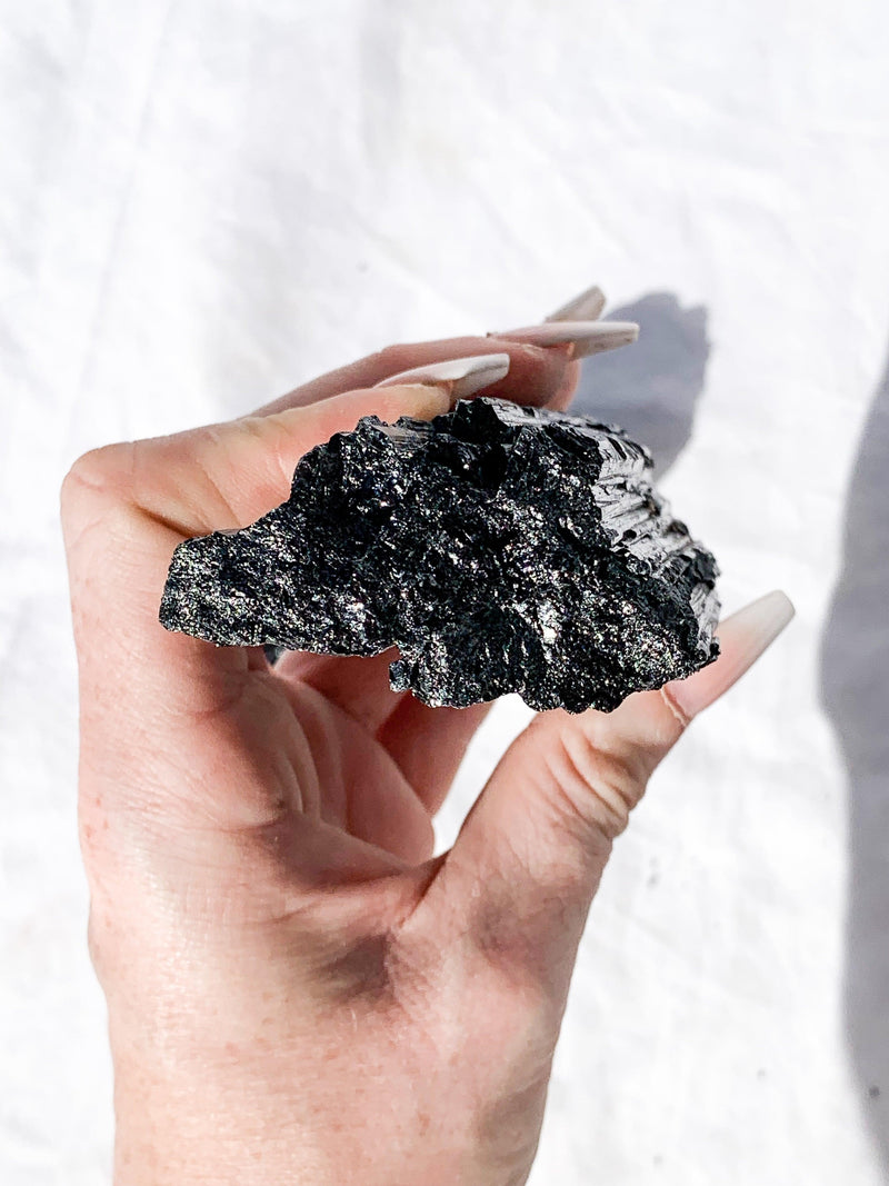 Black Tourmaline Rough | XXL - Unearthed Crystals