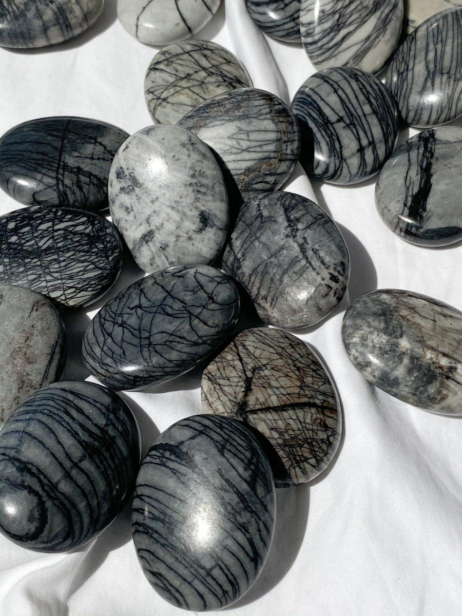 Picasso Jasper Pillow Palm Stone – Unearthed Crystals
