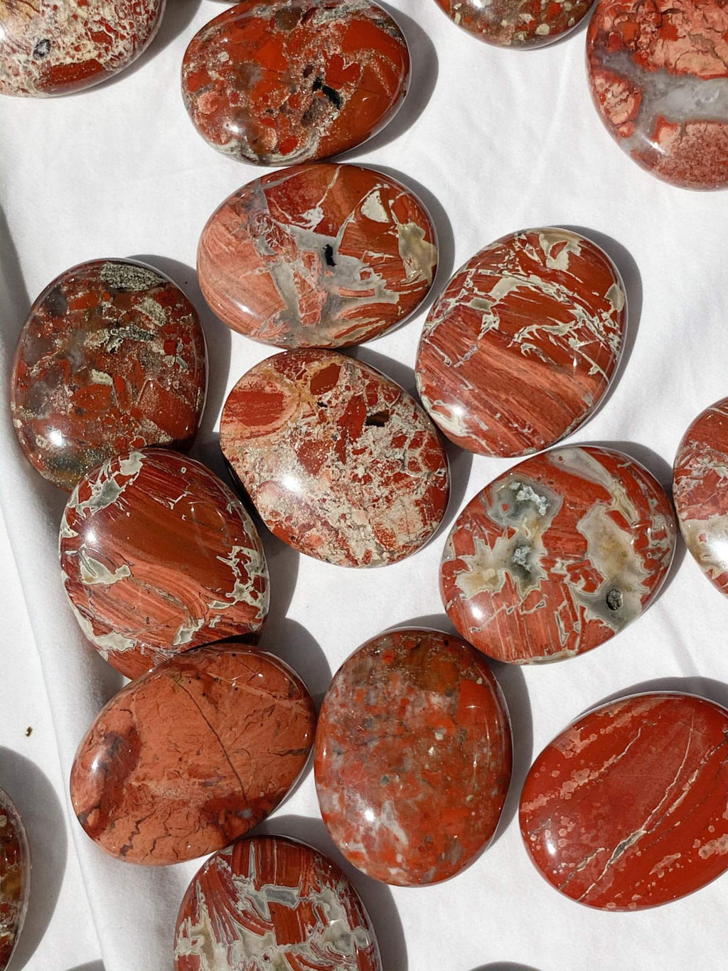 Brecciated Jasper Pillow Palm Stone - Unearthed Crystals