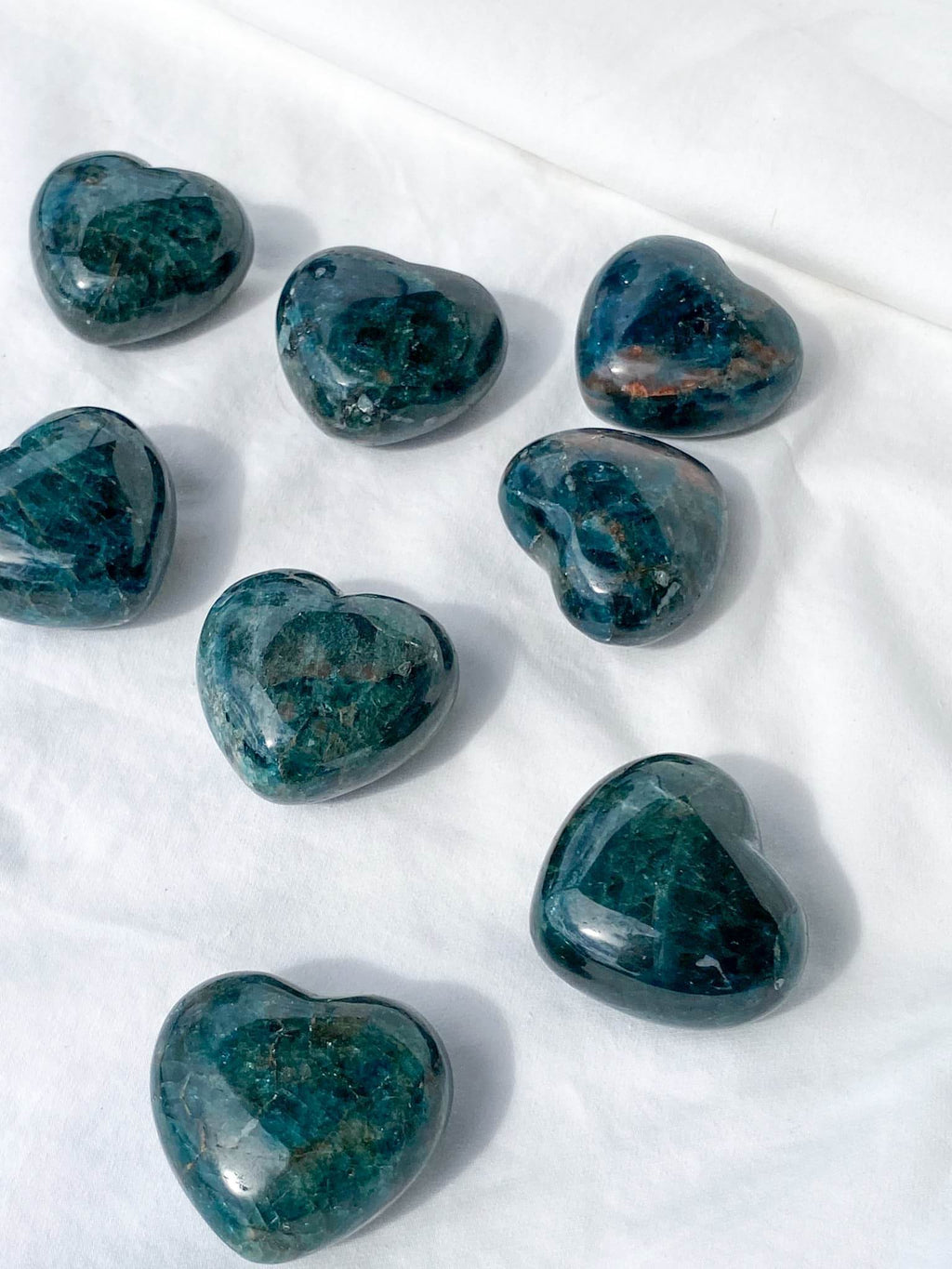 Blue Apatite Heart | Large - Unearthed Crystals