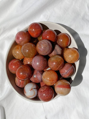 Carnelian (Snakeskin) Sphere | Small - Unearthed Crystals