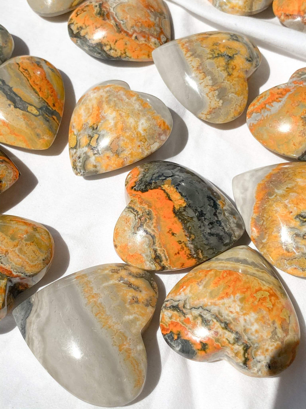 Bumble Bee Jasper Heart | Medium - Unearthed Crystals