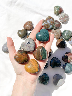 Ocean Jasper Heart | Medium - Unearthed Crystals