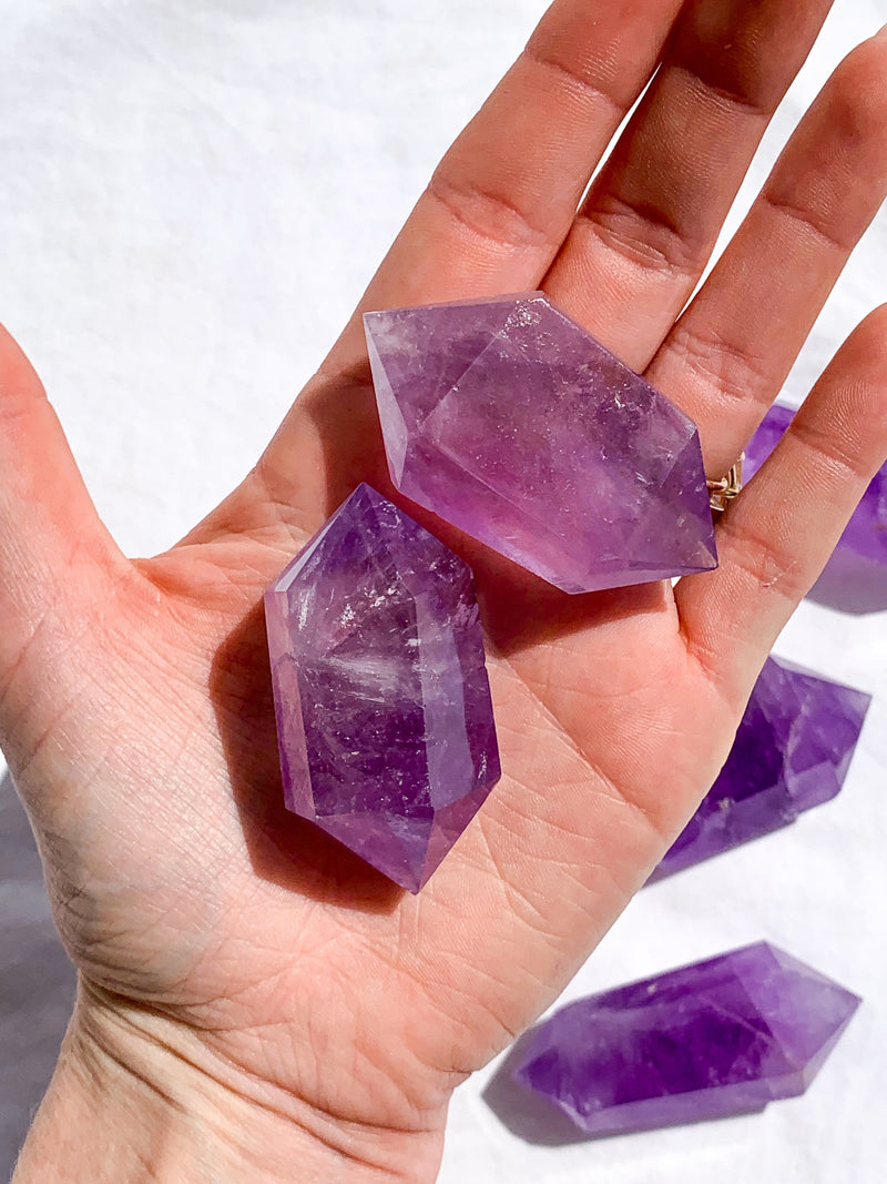 Amethyst Double Terminated Point | Medium - Unearthed Crystals