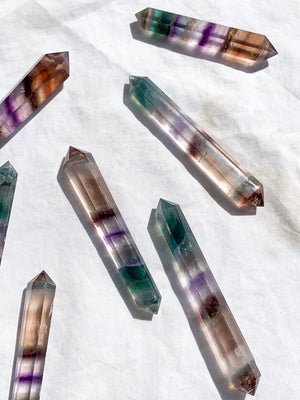 Fluorite Double Terminated Point | Medium - Unearthed Crystals