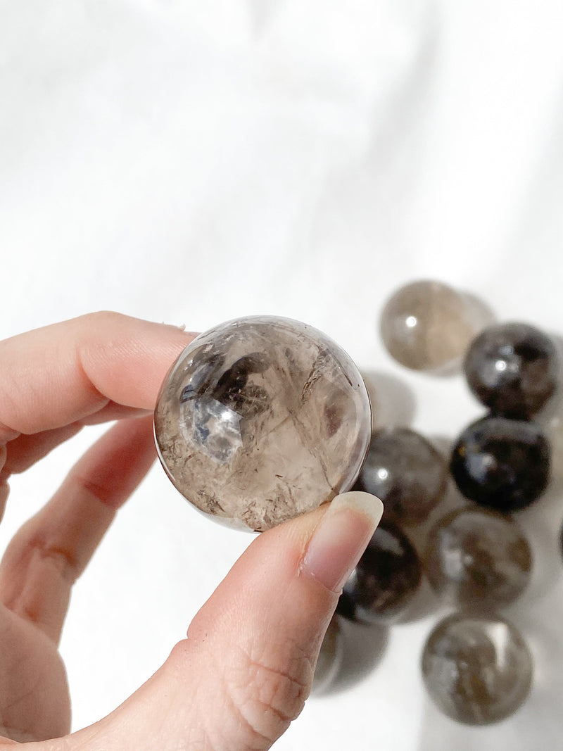 Smokey Quartz Sphere | Small - Unearthed Crystals
