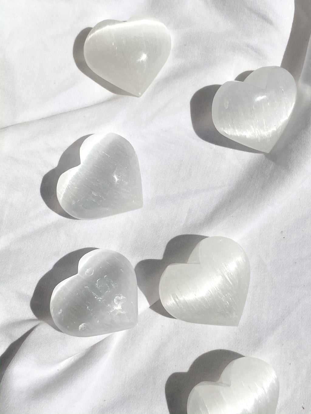 Selenite Heart | Medium - Unearthed Crystals