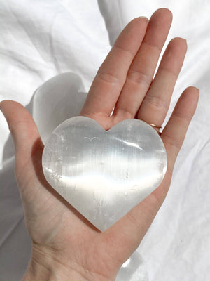 Selenite Heart | Large - Unearthed Crystals