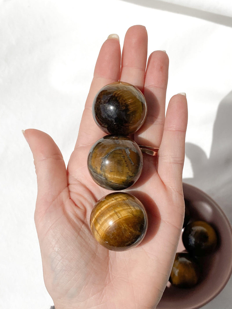 Tiger Eye Sphere | Small - Unearthed Crystals