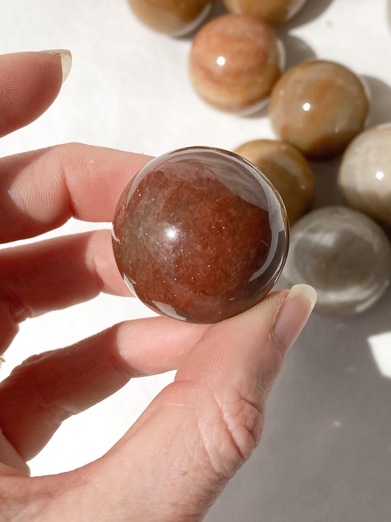 Moonstone Sphere | Small - Unearthed Crystals