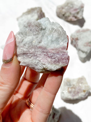 Pink Tourmaline Rough | Small - Unearthed Crystals