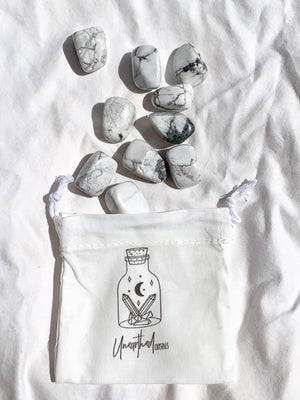 White Howlite Tumbles | Medium - Unearthed Crystals