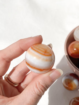 Carnelian Sphere | Small - Unearthed Crystals