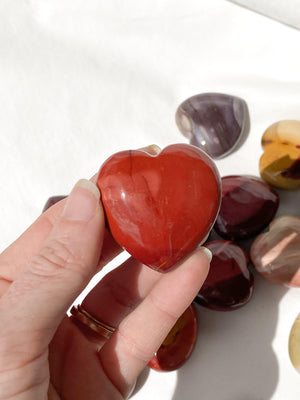 Mookaite Jasper Heart | Large - Unearthed Crystals