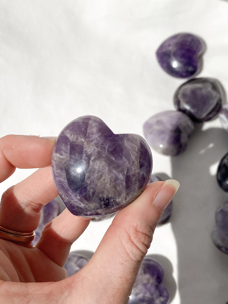 Amethyst Heart | Large - Unearthed Crystals