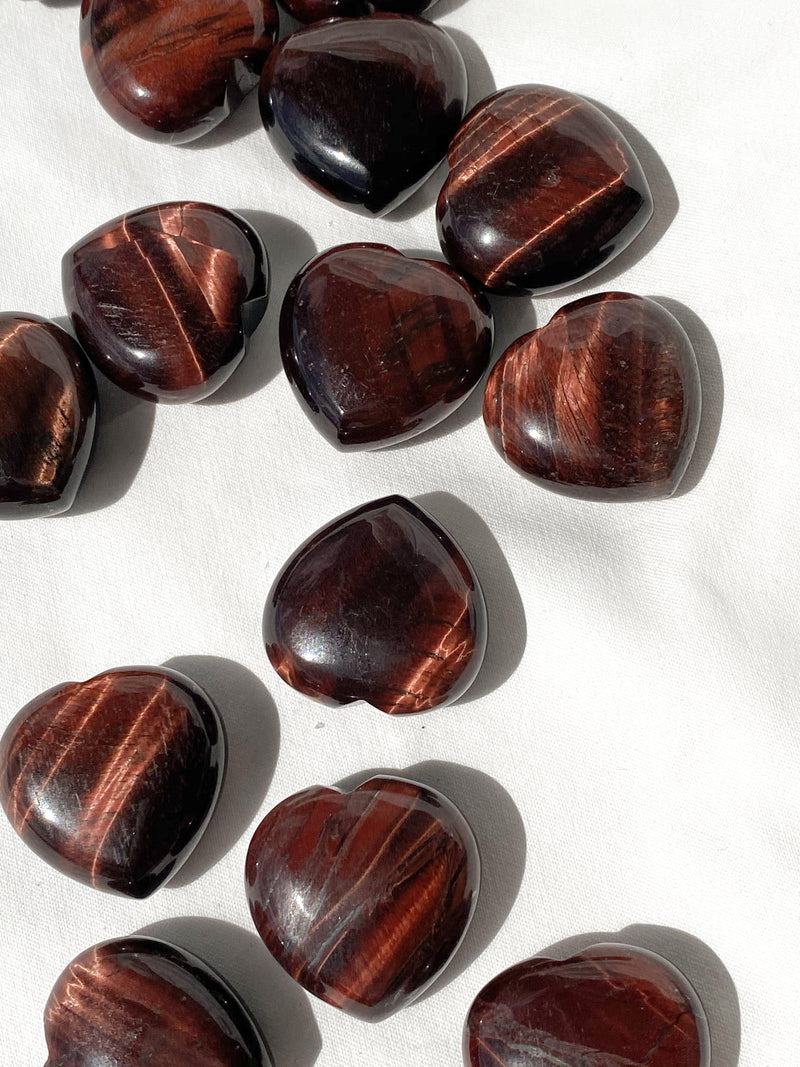 Red Tigers Eye Heart | Small - Unearthed Crystals