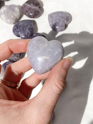 Lepidolite Heart | Medium - Unearthed Crystals