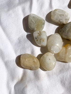 White Moonstone Tumbles | Medium - Unearthed Crystals