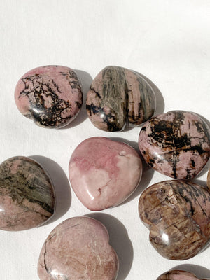 Rhodonite Heart | Large - Unearthed Crystals