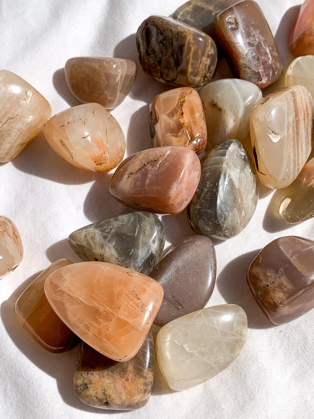 Peach Moonstone Tumbles | Small - Unearthed Crystals