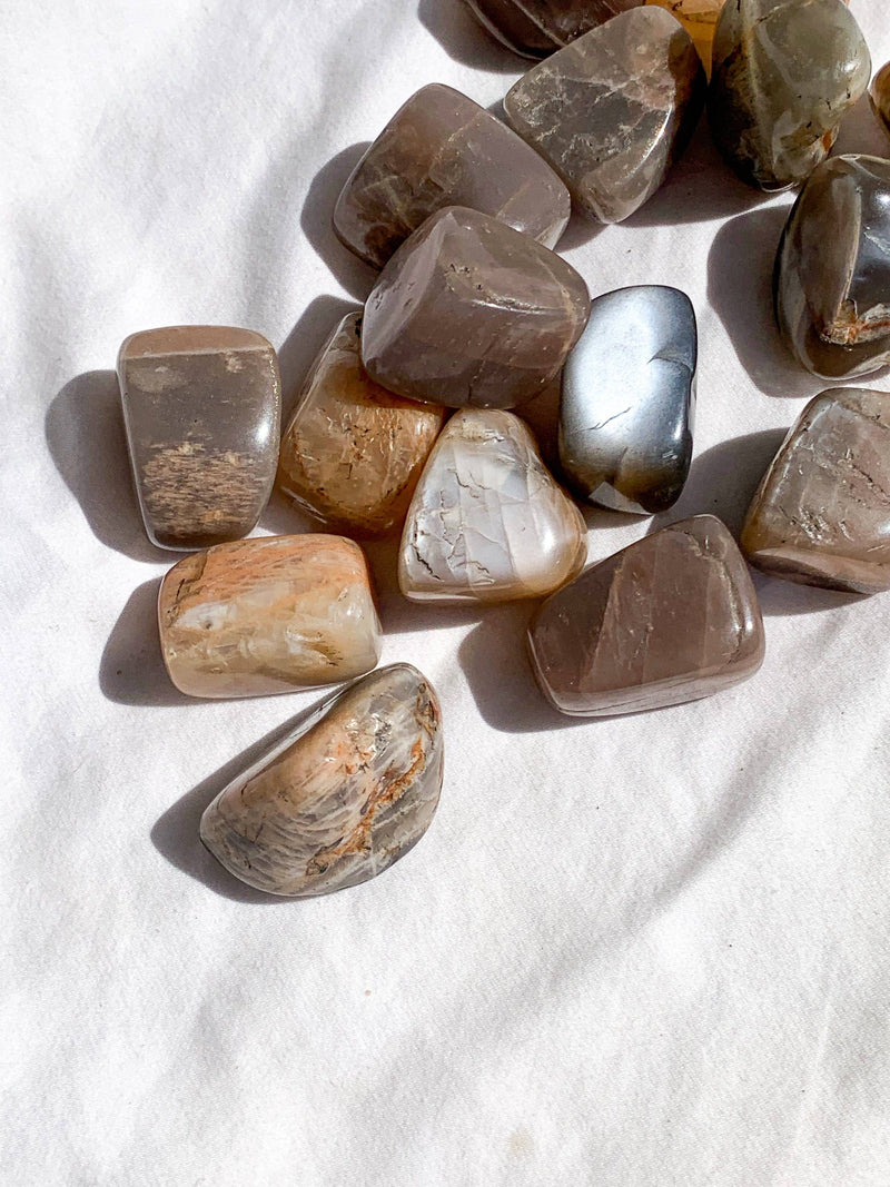 Peach Moonstone Tumbles | Large - Unearthed Crystals