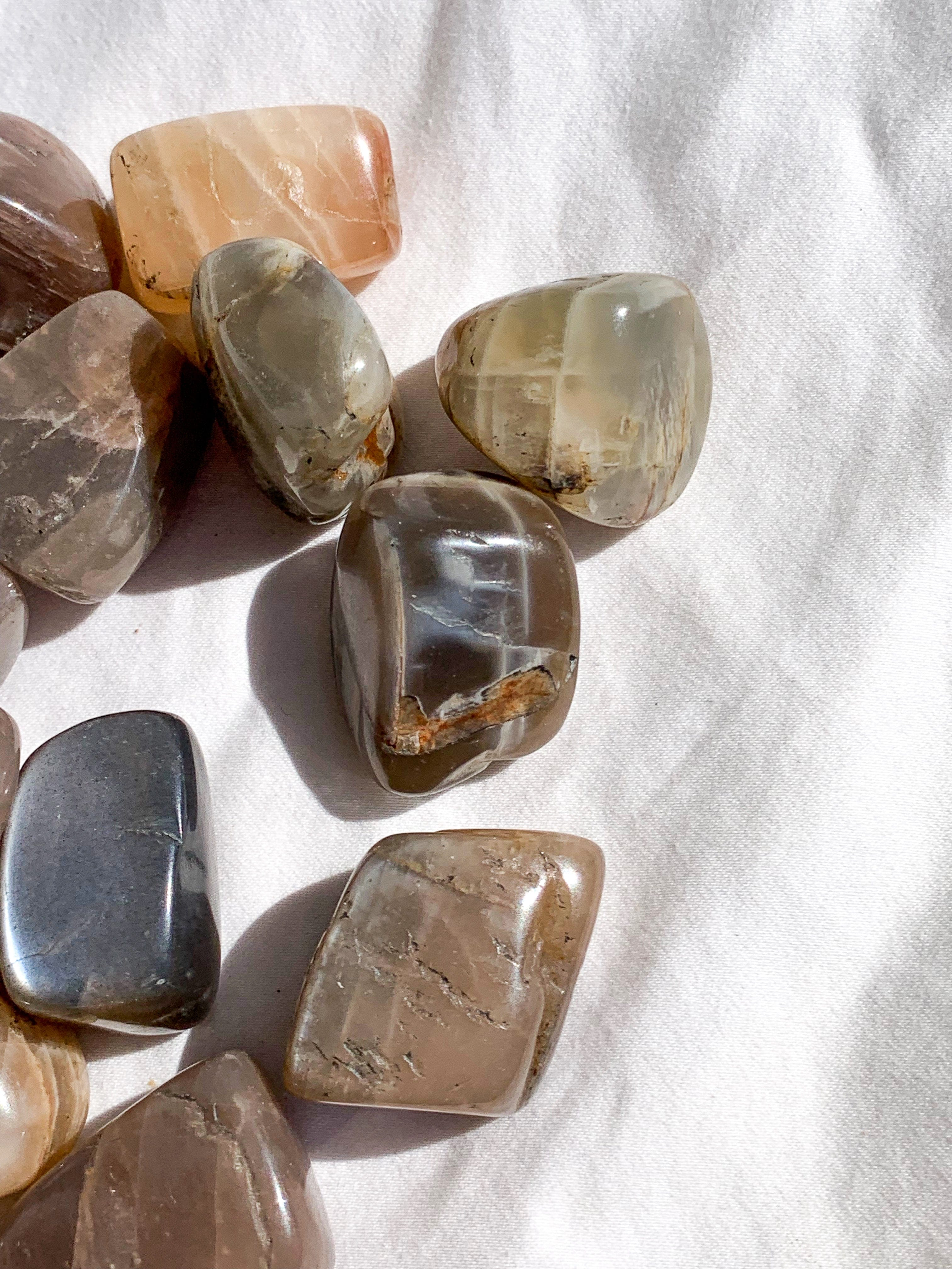 Peach Moonstone Tumbles | Medium - Unearthed Crystals