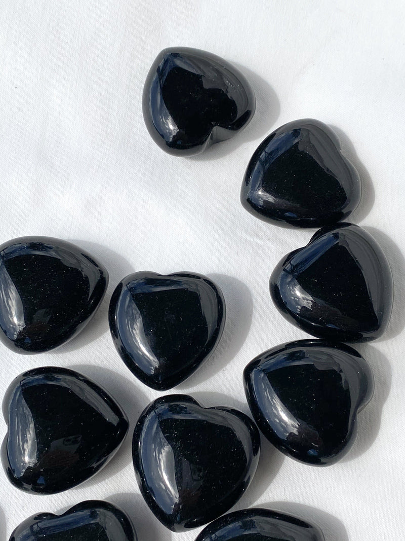 Black Obsidian Heart | Medium - Unearthed Crystals