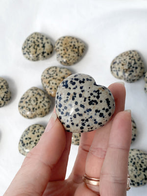 Dalmatian Jasper Heart | Medium - Unearthed Crystals