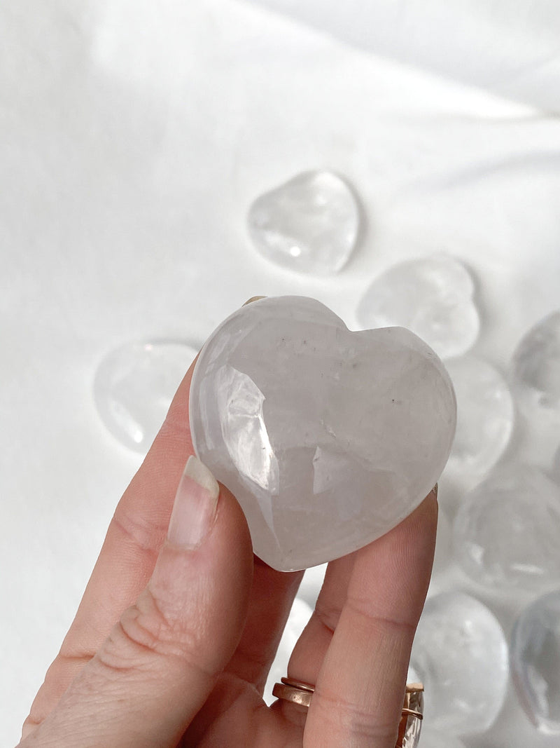 Clear Quartz Heart | Large - Unearthed Crystals