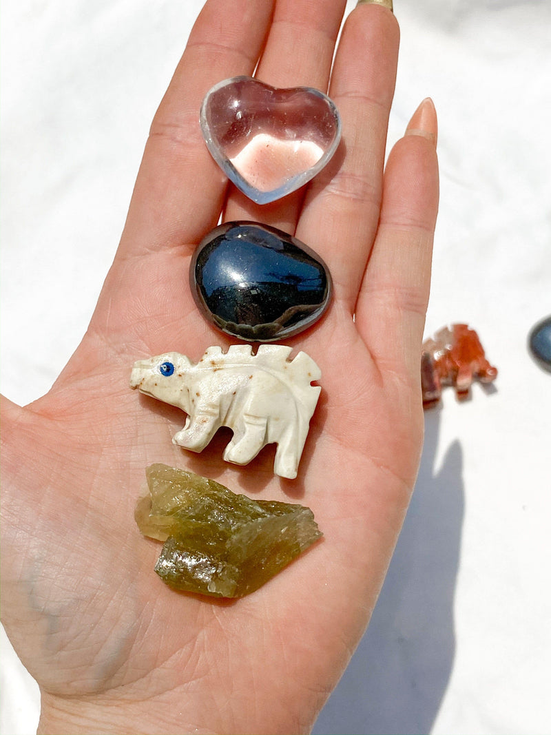Tiny Human Basics Pouch | Stegosaurus - Unearthed Crystals