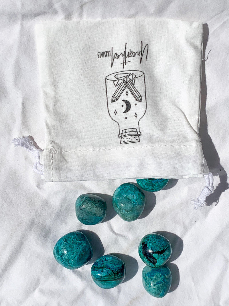 Chrysocolla Tumbles | Medium - Unearthed Crystals