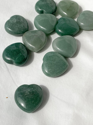 Green Aventurine Heart | Large - Unearthed Crystals