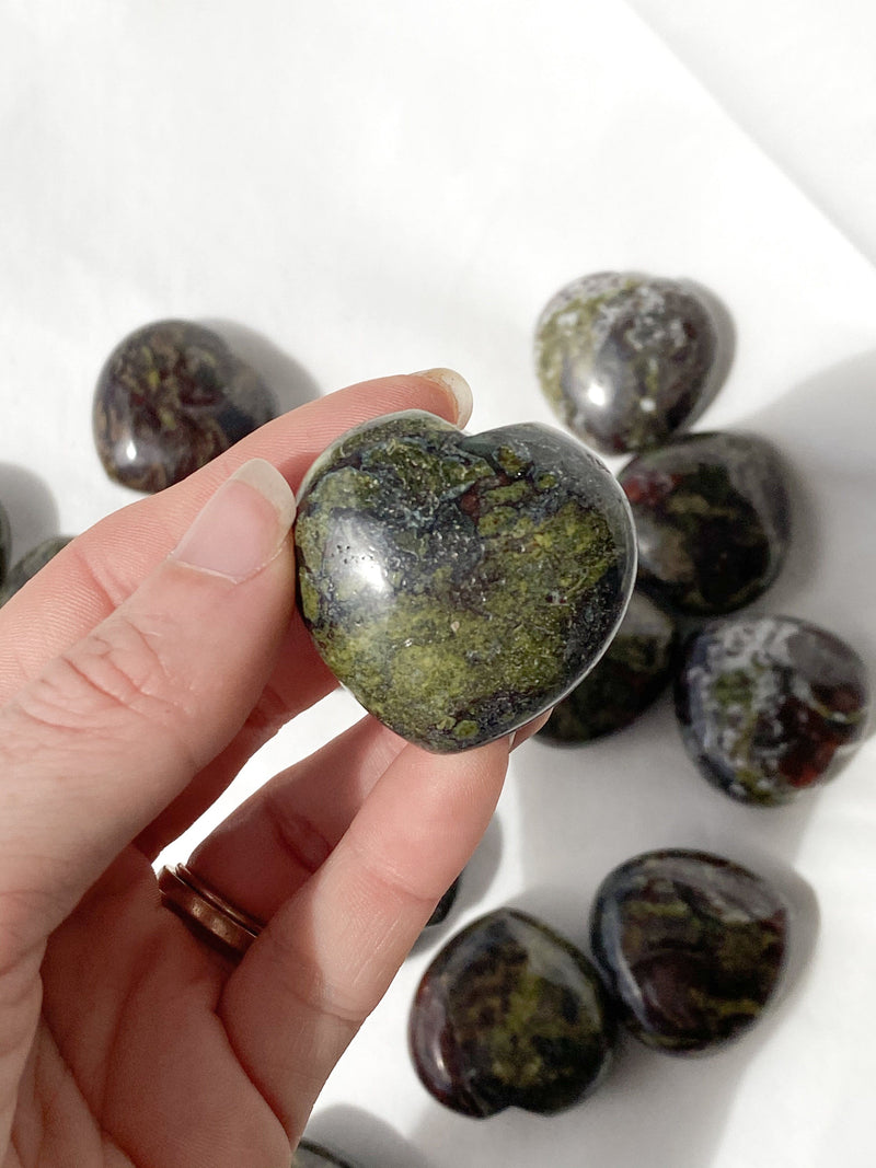 Dragons Blood Jasper Heart | Medium - Unearthed Crystals
