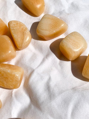 Orange Calcite Tumbles | Large - Unearthed Crystals
