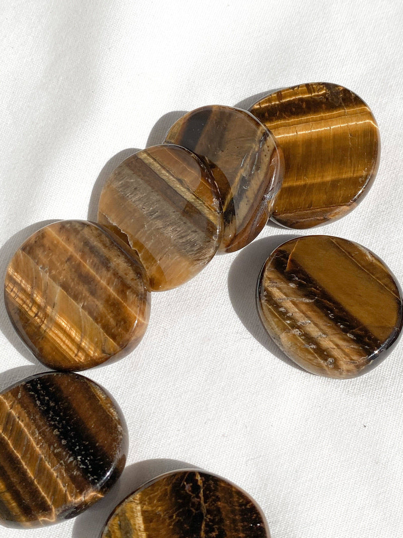 Tiger Eye Coin - Unearthed Crystals