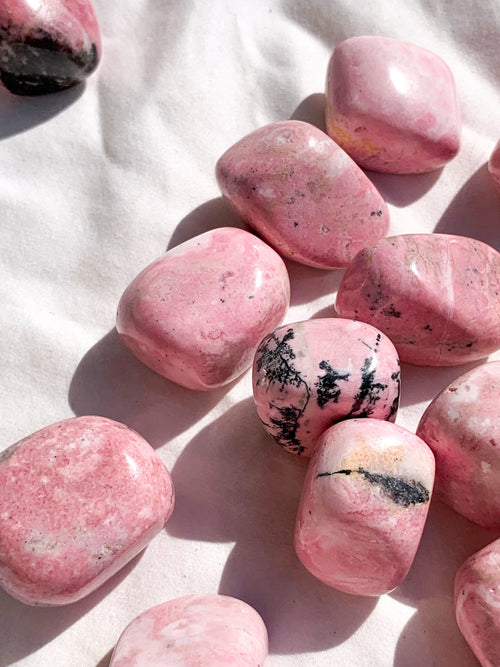 Rhodochrosite Tumbles | Large - Unearthed Crystals