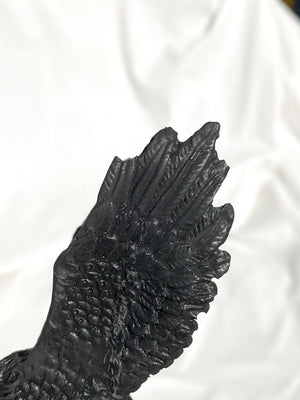 "Shungite Carving | ""Wes Mantooth"" the Eagle - Unearthed Crystals"